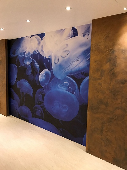 Bespoke wall covering complete