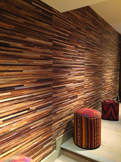 Specialist wood slat wall covering